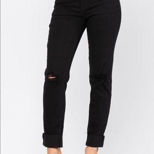 Judy Blue black jeans slim fit mid rise size 14W